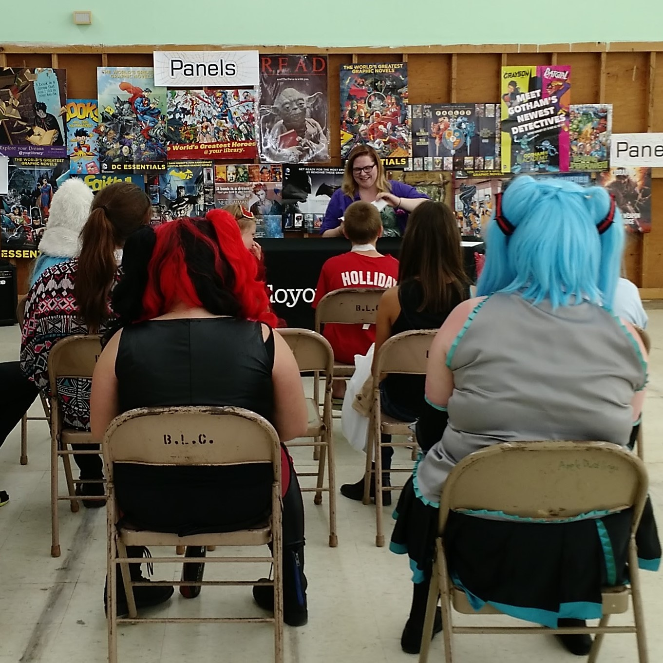 An art panel at our con.