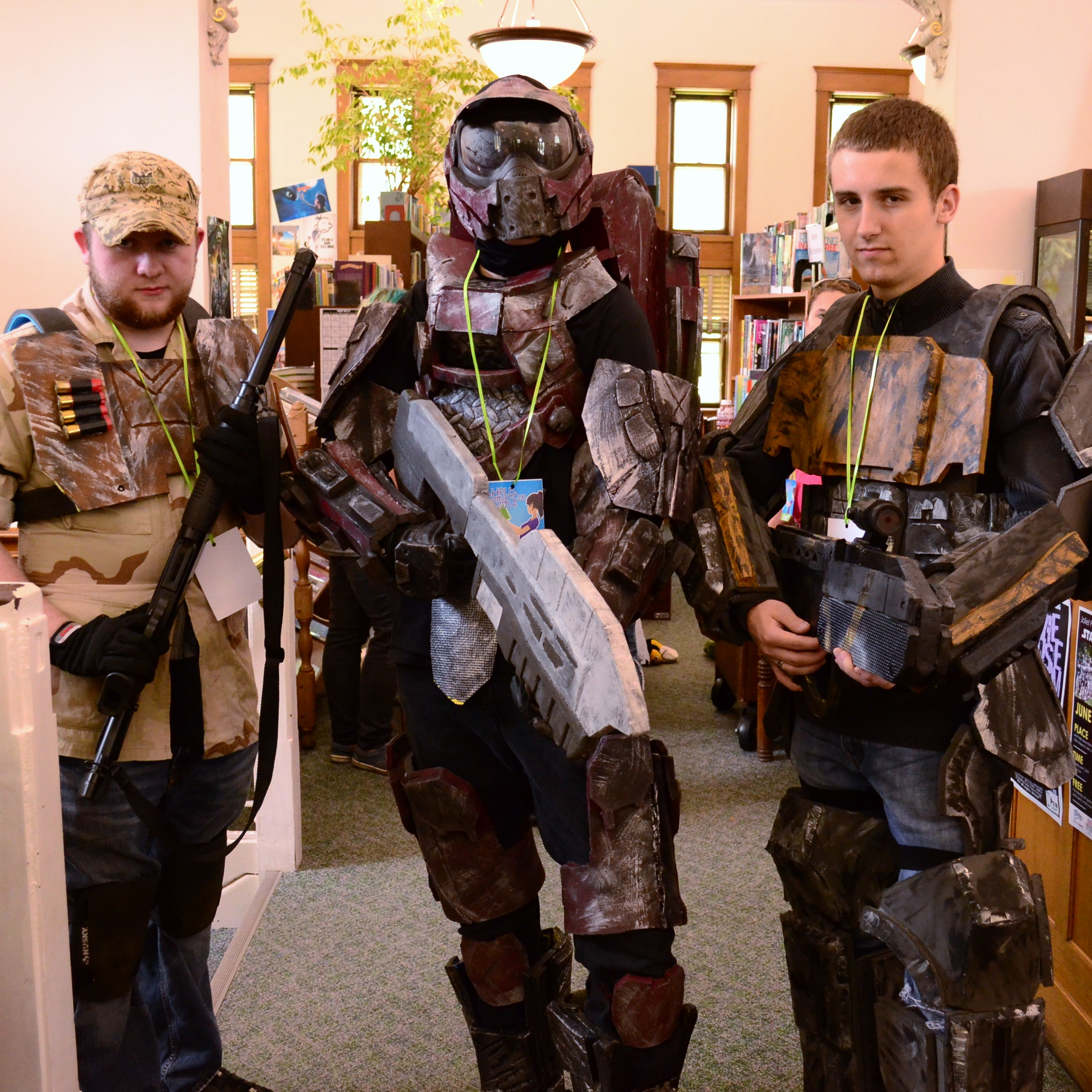 Cosplaying characters from Halo.